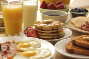 Breakfast foods and drinks